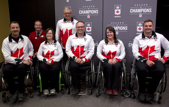 Five wheelchair curlers will represent Canada in Pyeongchang ©Curling Canada