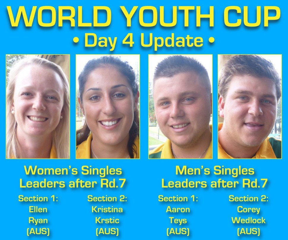 Australians take the lead in women's singles event at World Youth Bowls Championships