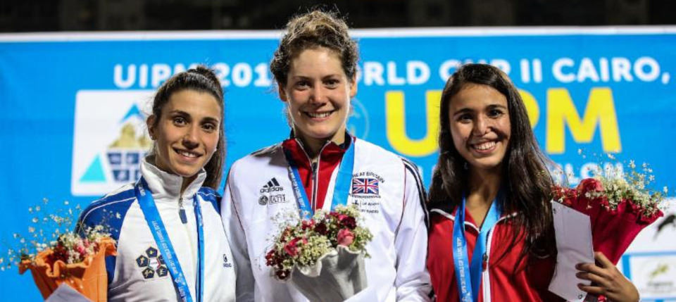 Kate French won the women's event last year in Cairo, but is not part of the British squad this time ©UIPM