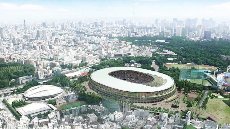 Tokyo 2020 have been slammed by environmental campaigners following their reported admission of using tropical timber ©Japan Sport Council