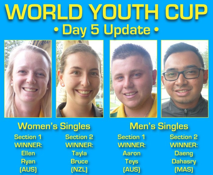 Section winners decided at World Youth Bowls Championships