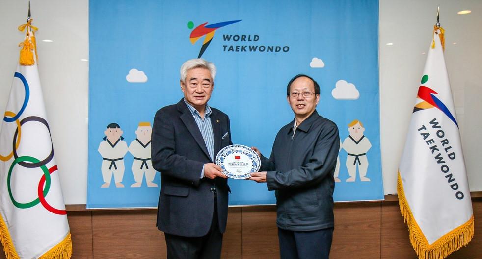 World Taekwondo President Choue welcomes senior Chinese delegation to Seoul