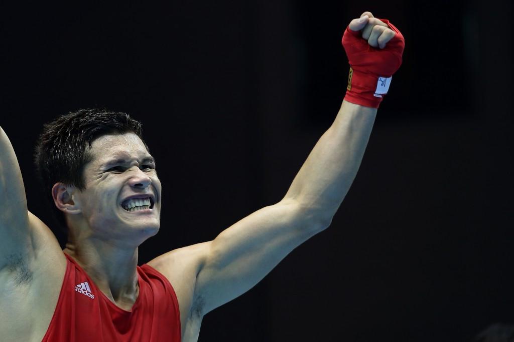 Daniyar Yeleussinov is through to the semi-finals in the welterweight division