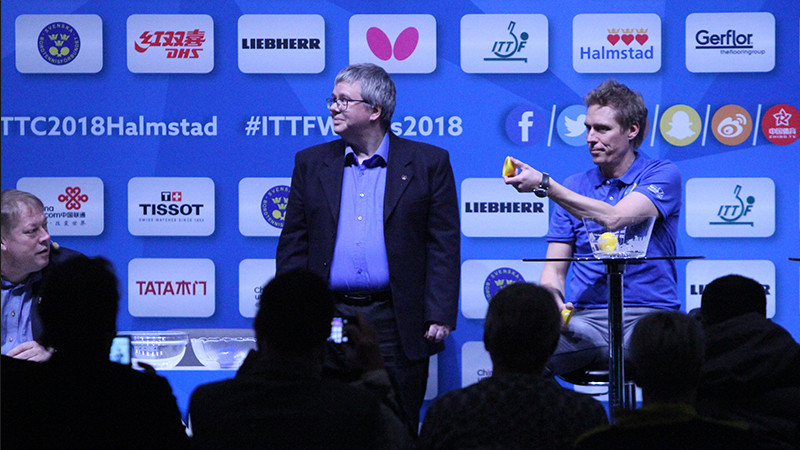 The draw for this year's ITTF Team World Championships made in host city Halmstad kept  the hosts' men's team and defending men's champions China in separate qualifying groups ©ITTF