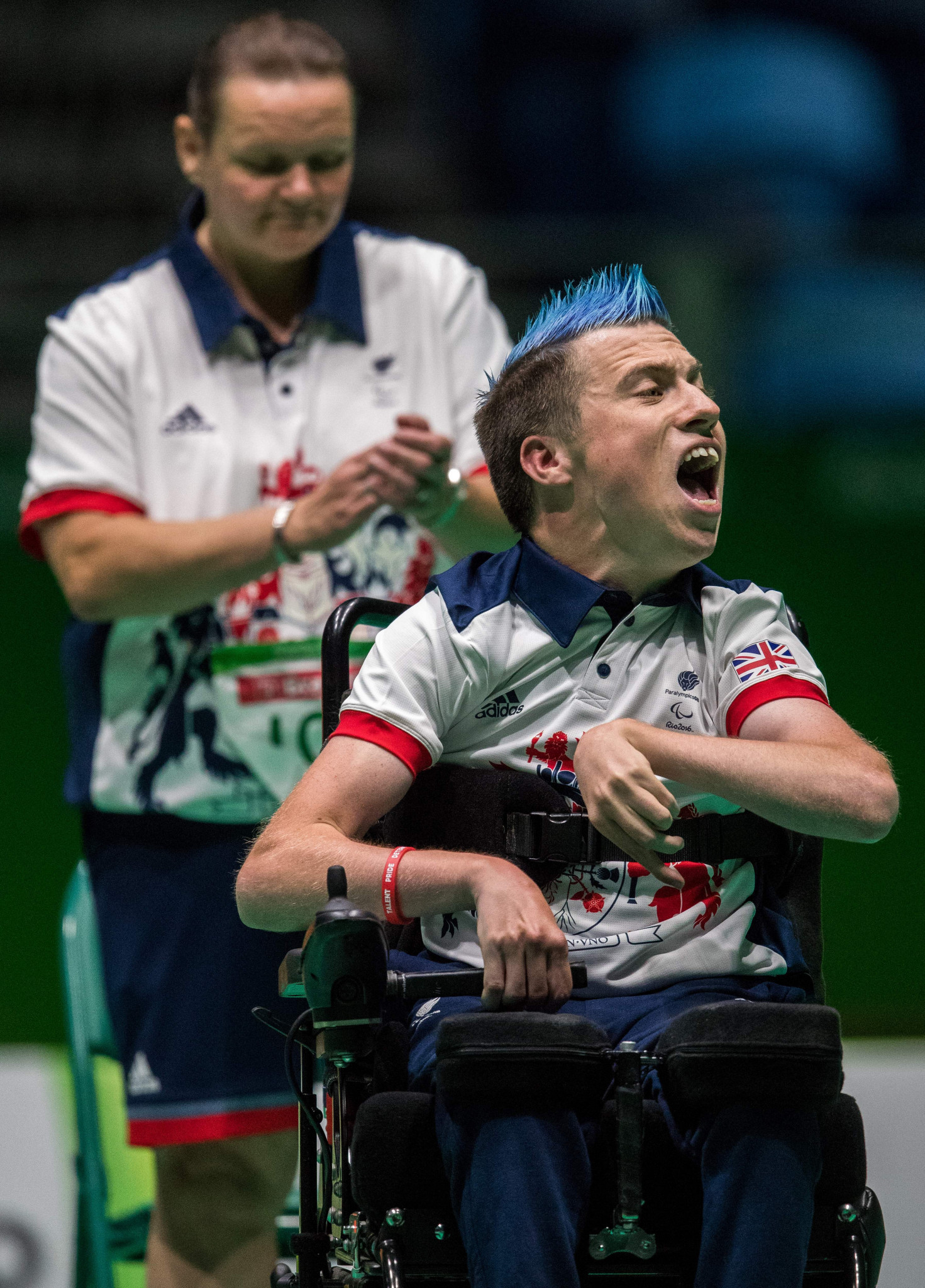 Britain's David Smith, pictured en-route to winning boccia gold at the Rio 2016 Paralympics, is seeking further success at the World Boccia Championships that will take place in Liverpool this August ©Getty Images