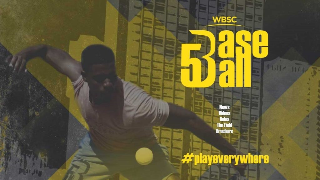 "The World Baseball Softball Confederation has unveiled a new street discipline called ""Baseball5"" ©WBSC"