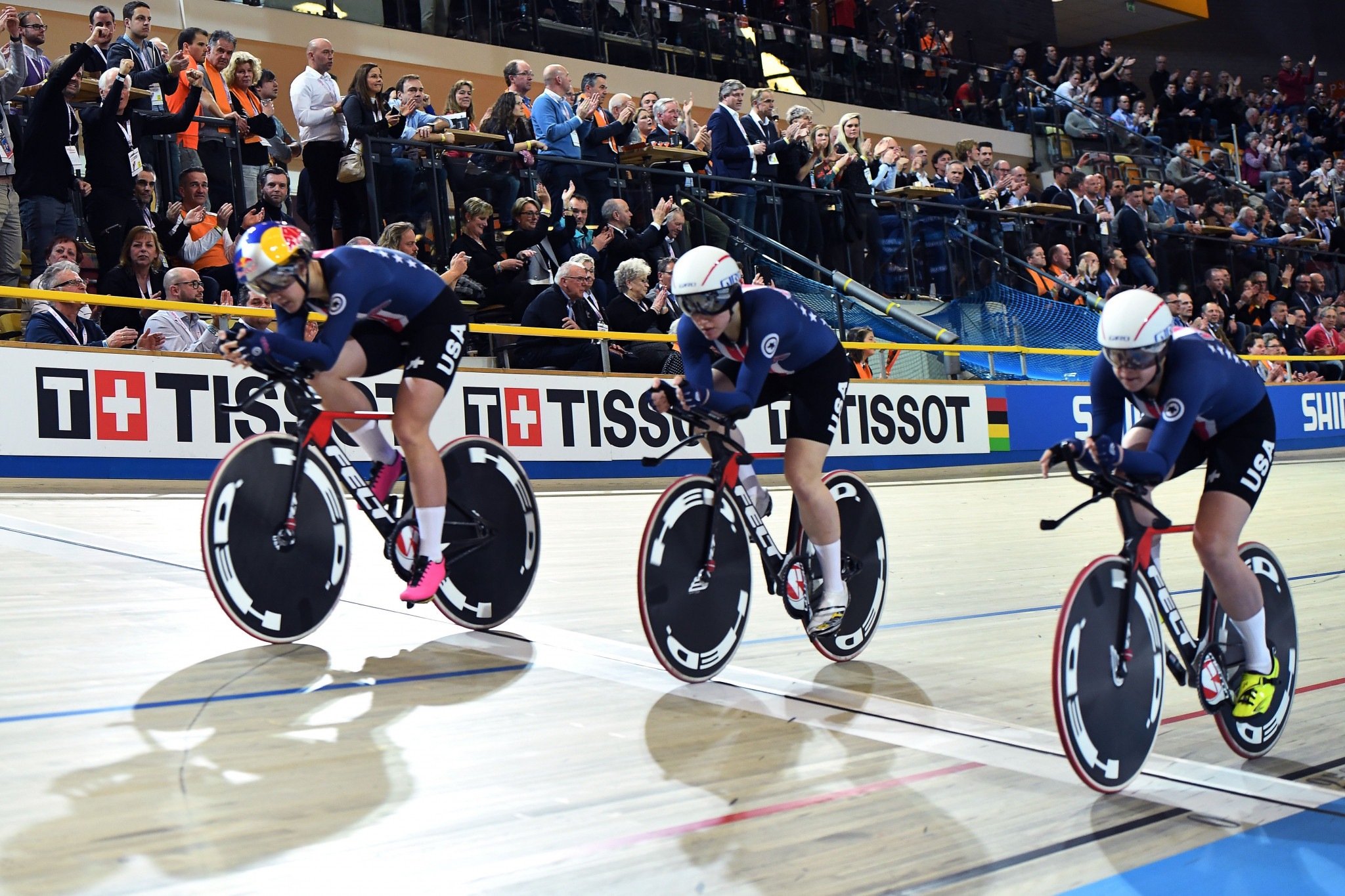 United States defended their women's team pursuit title ©Getty Images