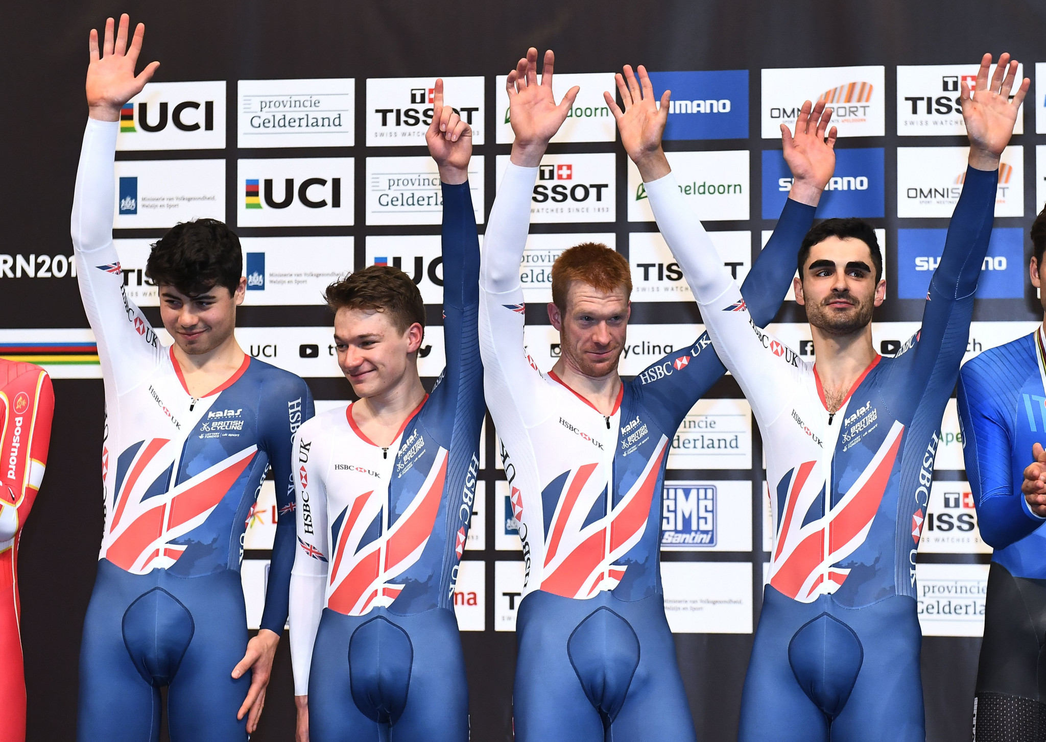 Britain claimed the men's team pursuit title by beating Denmark ©Getty Images
