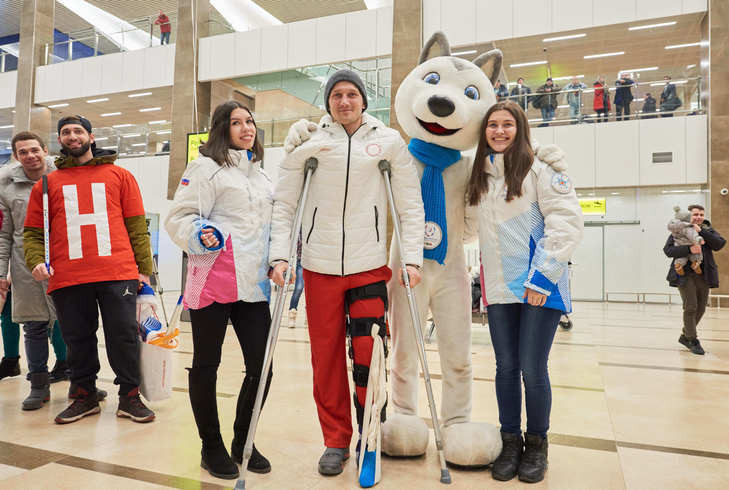 Krasnoyarsk 2019 ambassador given hero's welcome on Olympic return