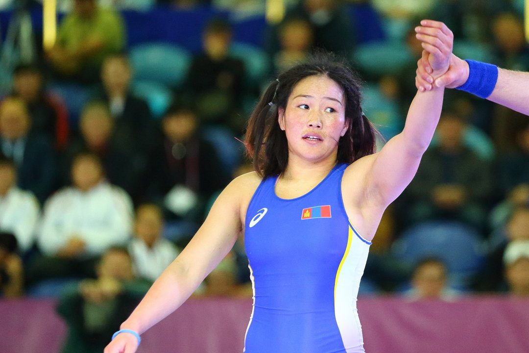 Sumiya Erdenechimeg suffered defeat in her gold medal bout ©UWW