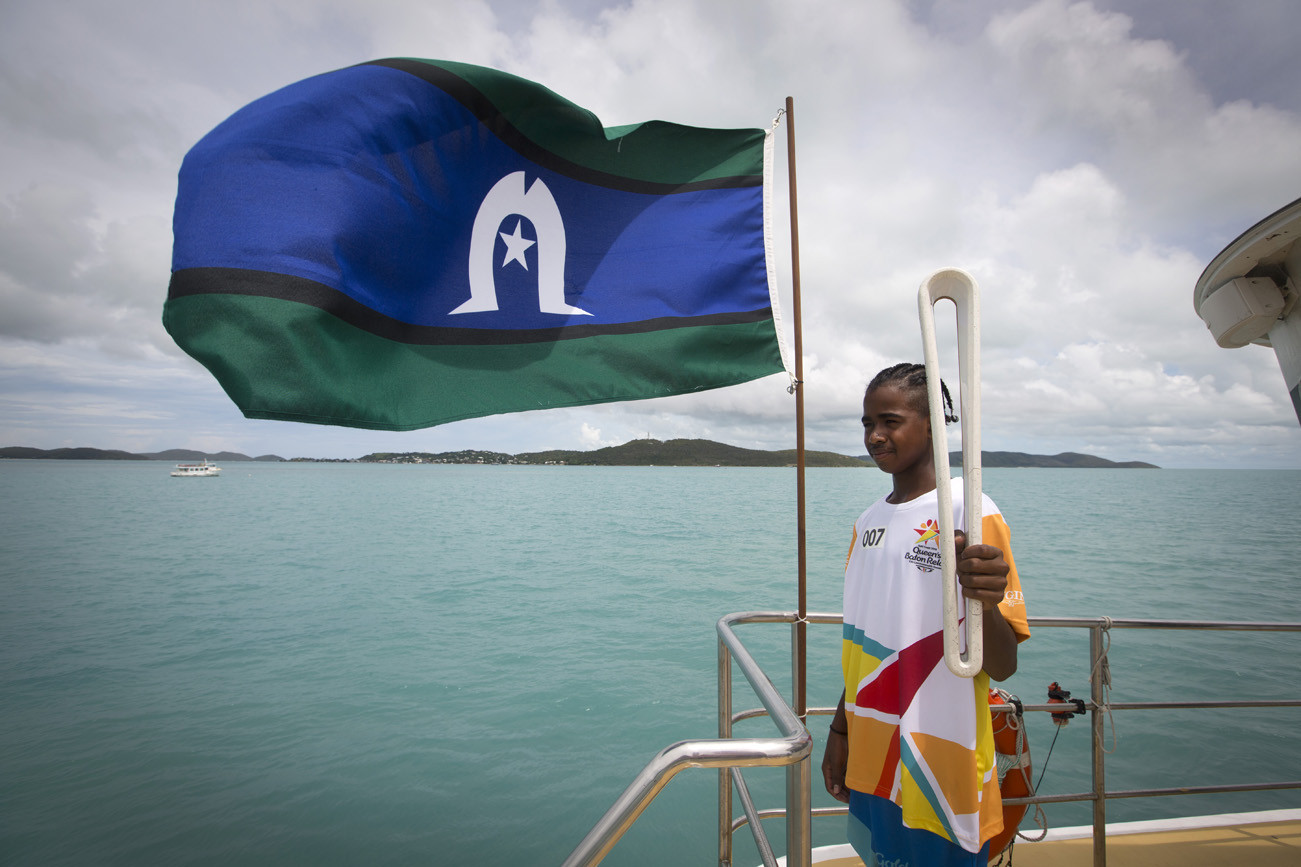 The Queen's Baton travelled from Horn Island to Thursday Island by ferry ©Gold Coast 2018