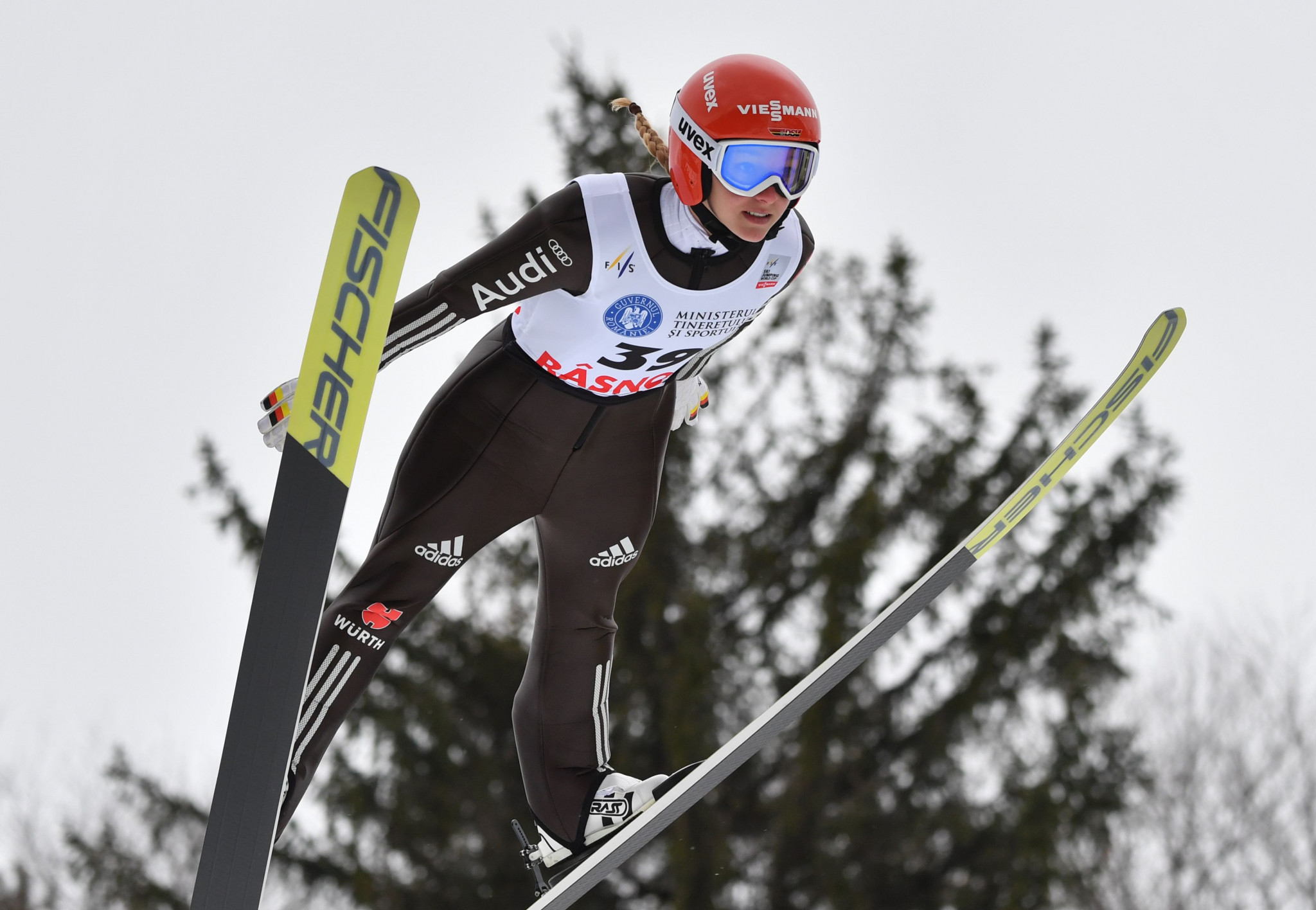 Germany's Katharina Althaus sealed her third win of the season ©Getty Images