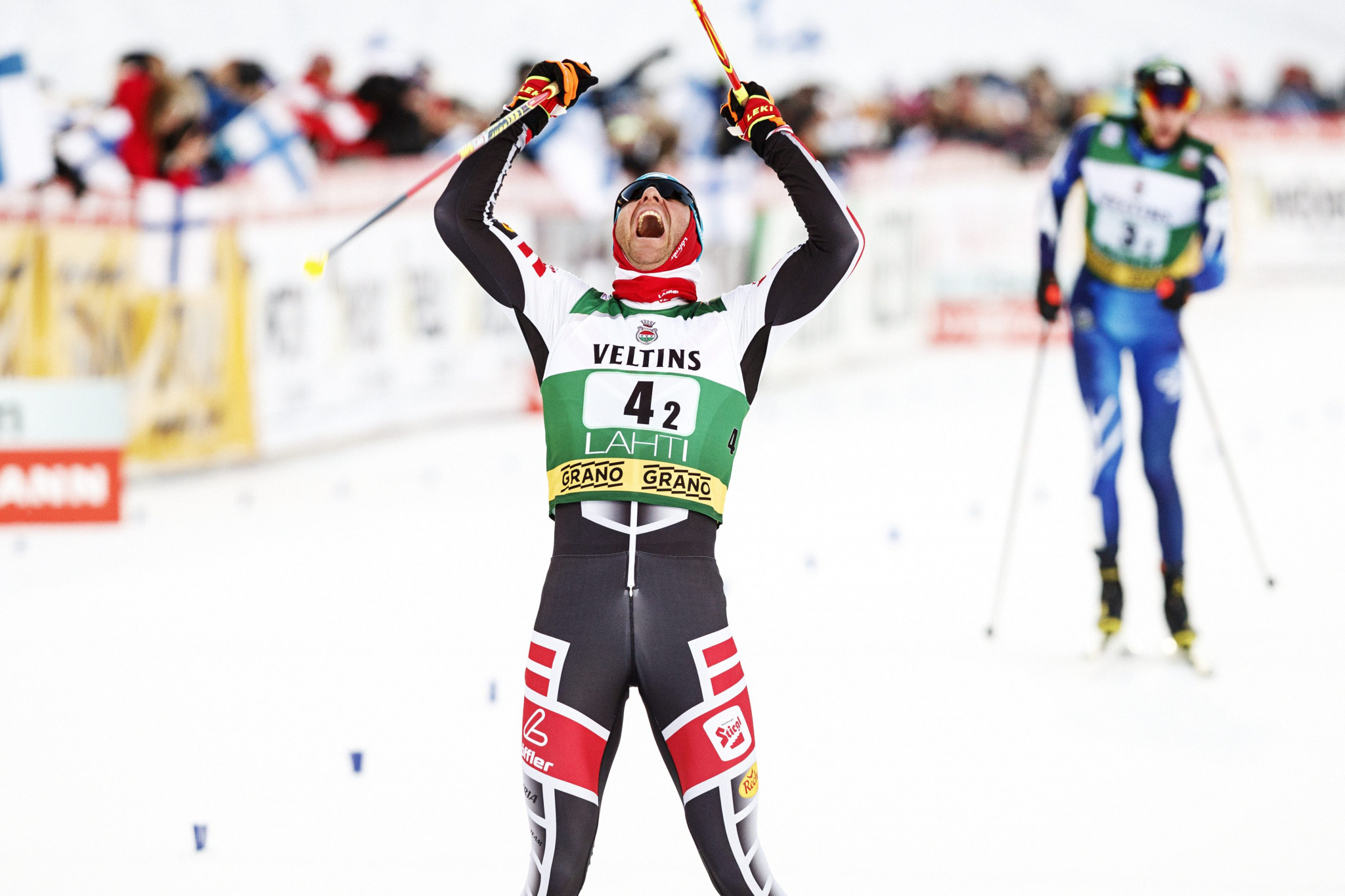 Austria win team sprint event at FIS Nordic Combined World Cup