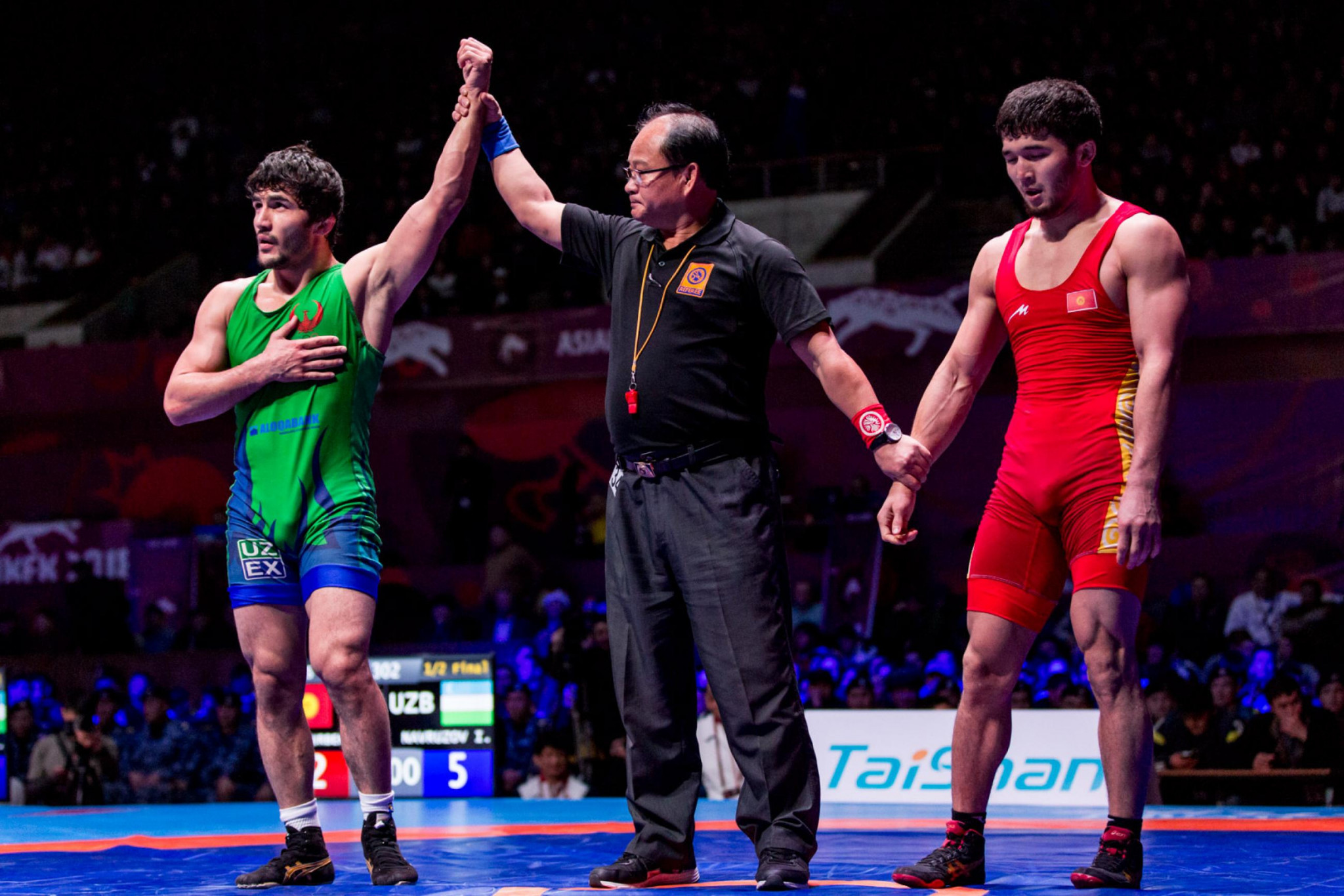 There will be representatives from Uzbekistan in four of the five men's freestyle finals at the Asian Championships ©UWW