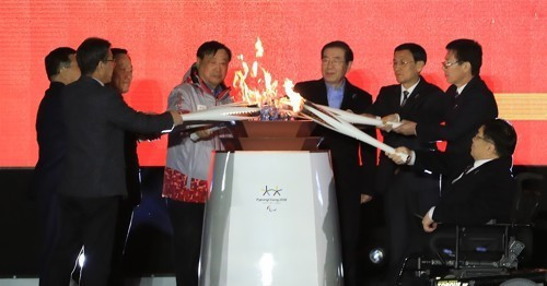Eight flames unified into one to mark start of Paralympic Torch Relay for Pyeongchang 2018