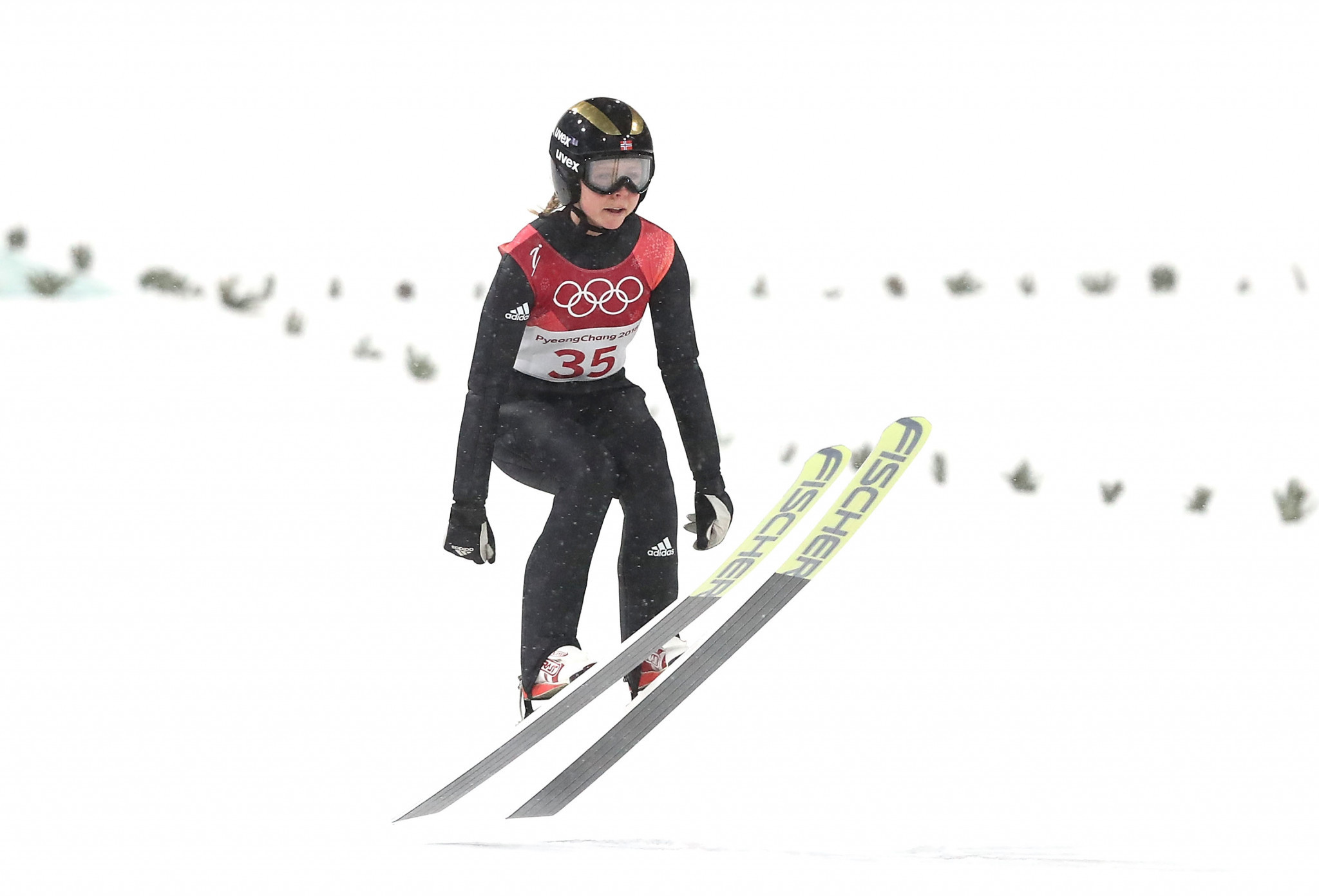 Olympic champion Maren Lundby remains well placed to secure the overall title ©Getty Images