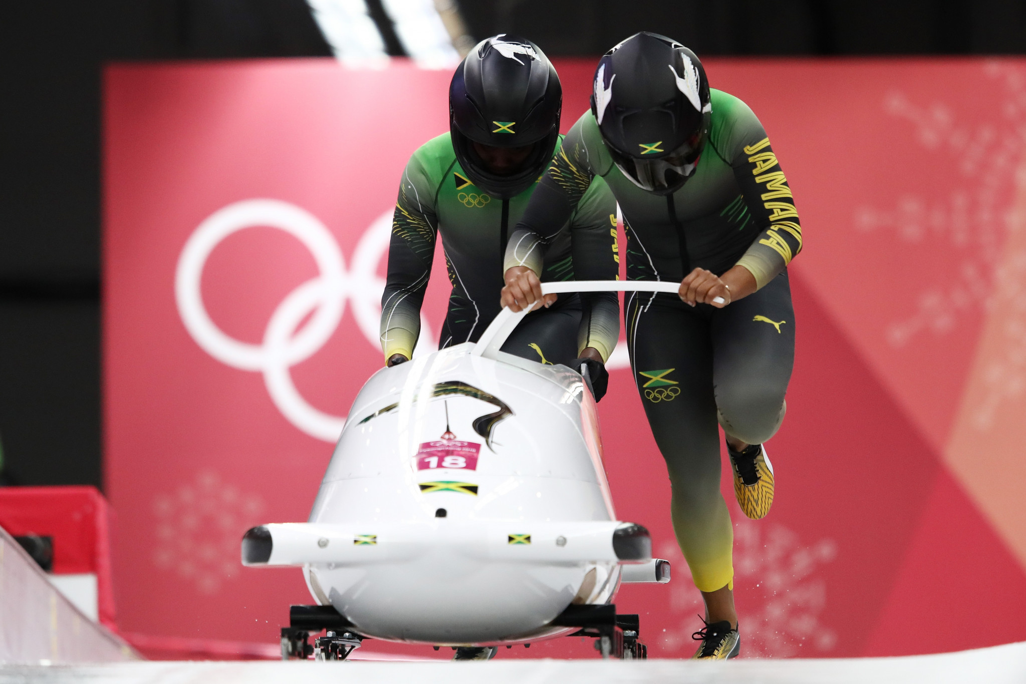 Jamaican women's bobsleigh team member failed drugs test month before Pyeongchang 2018