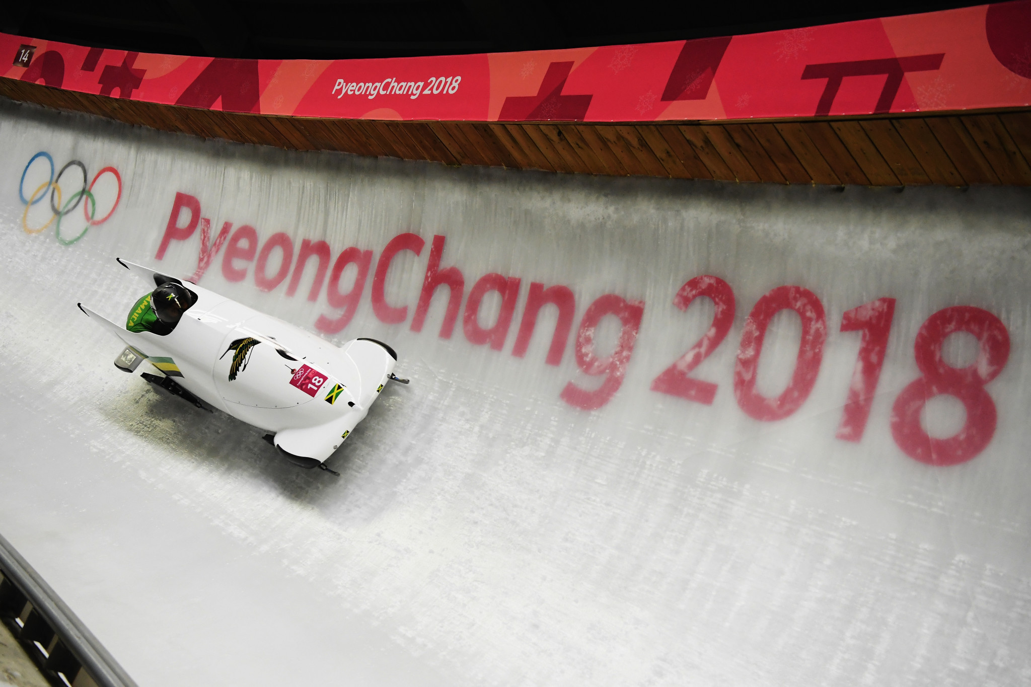 Jazmine Fenlator-Victorian and Carrie Russell were the members of the two-woman team which finished 19th at Pyeongchang 2018 as Jamaica's women made their Olympic bobsleigh debut ©Getty Images