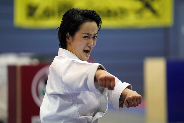 Japan's Kiyou Shimizu was an imperious winner of the female kata at the Karate 1-Series A event at Salzburg ©WKF