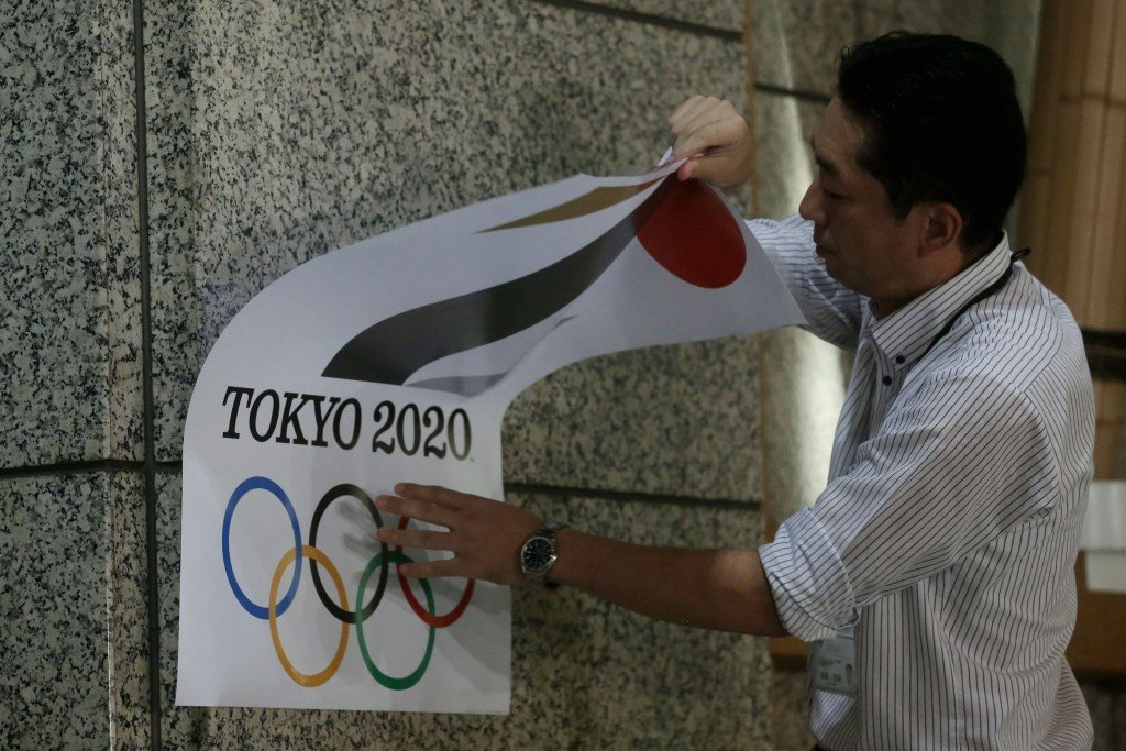 The original Tokyo 2020 emblem was scrapped earlier this week ©Getty Images