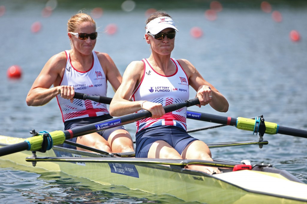 Britain's London 2012 champions Helen Glover (left) and Heather Stanning won their women's pair semi-final at the World Rowing Championships, earning a quota place at Rio 2016 in the process ©Getty Images