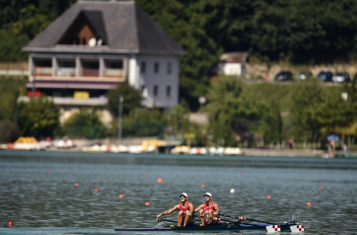 Croatia's defending world double sculls champions Valent (left) and Martin Sinkovic maintained their unbeaten record to reach the semi-finals of the World Rowing Championships on Lake Aiguebelette in France  ©Getty Images