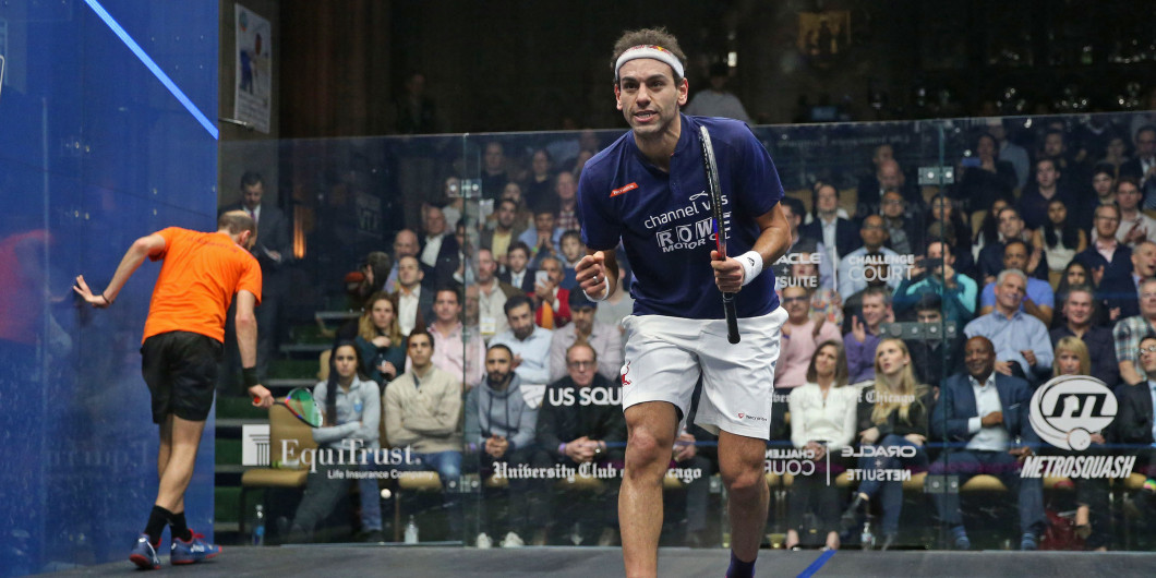 El Shorbagy and Farag reach PSA Black Ball Open quarter-finals
