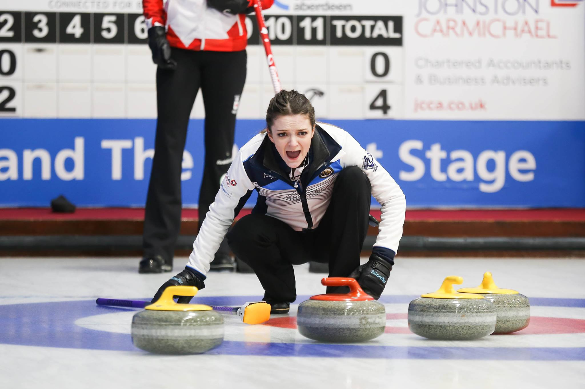 Round-robin action continued today at the World Junior Curling Championships ©WCF
