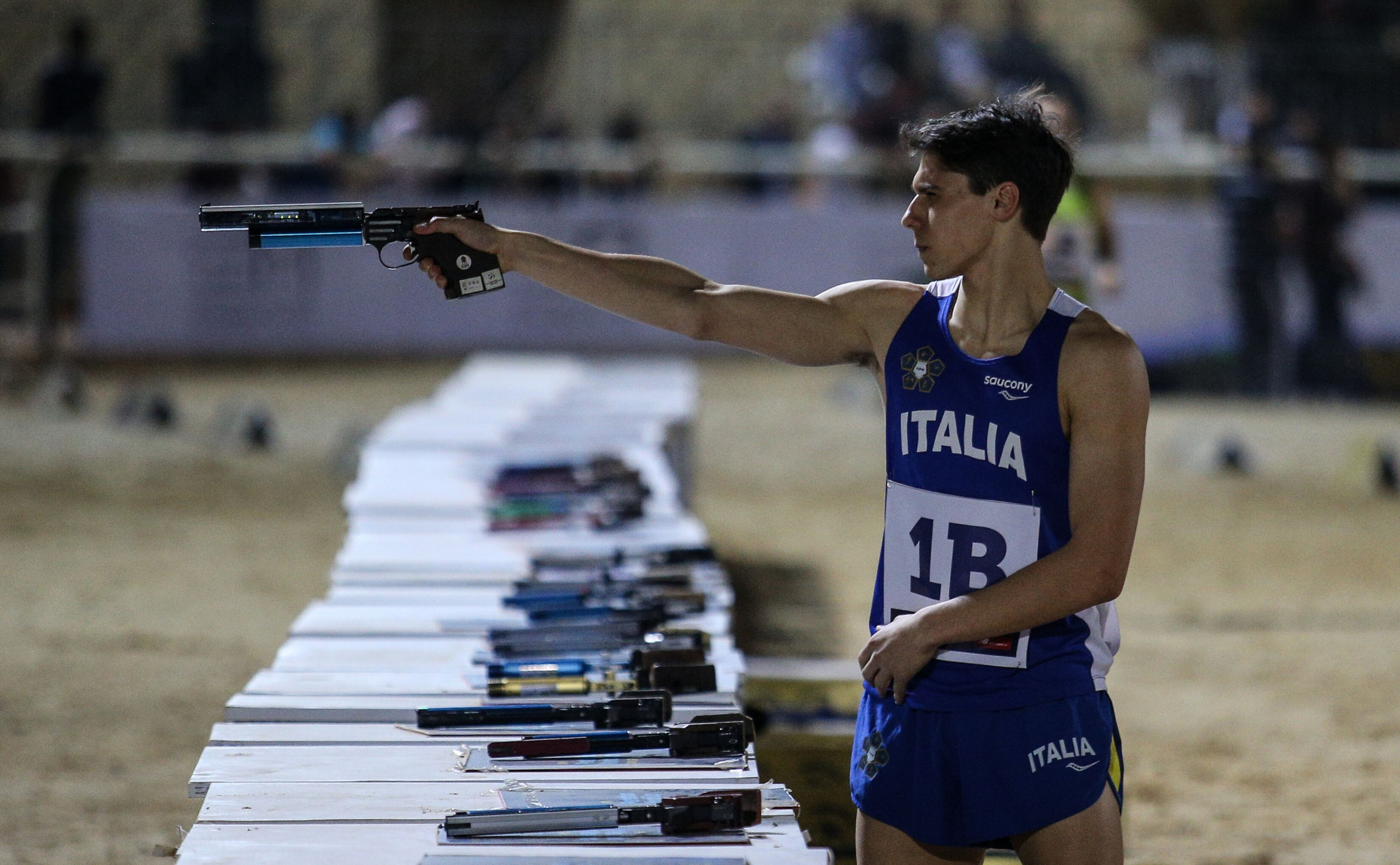 Gianluca Micozzi's gold medal in the mixed relay at the UIPM World Cup in Cairo, alongside Gloria Tocchi, represented a breakthrough at senior level for the Italian youngster ©UIPM