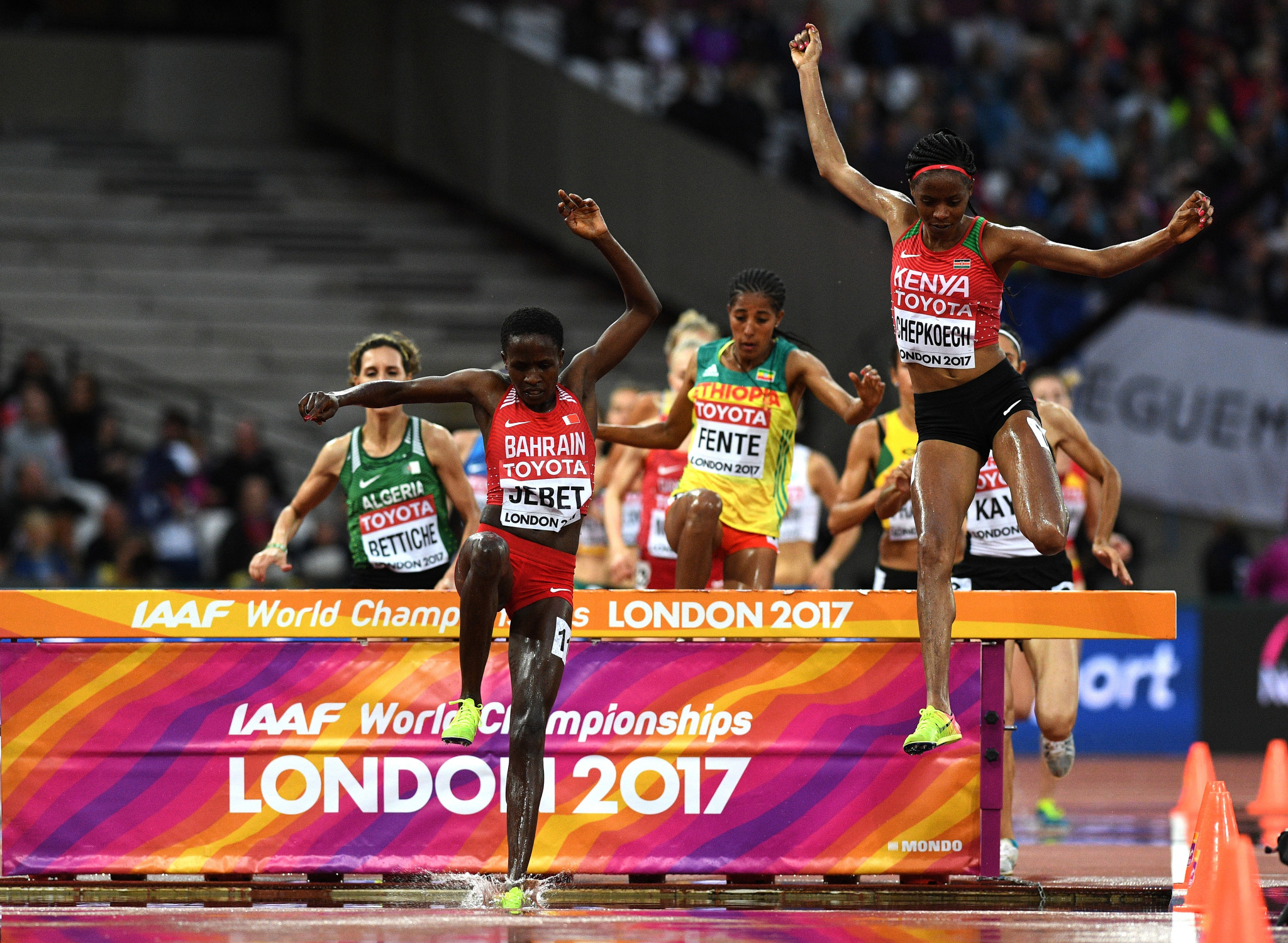 Ruth Jebet pictured competing at the 2017 World Championships in London ©Getty Images