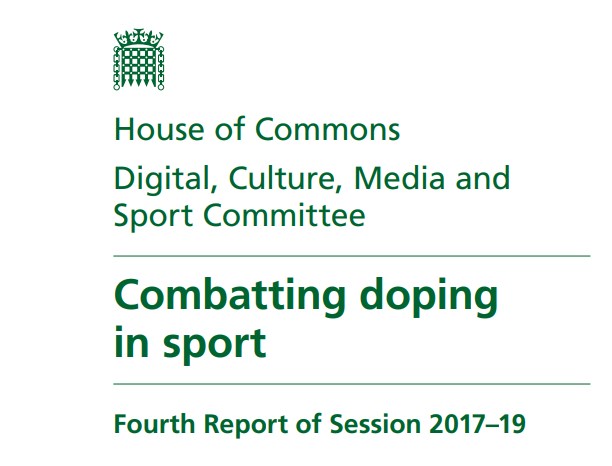 A report on Combatting Doping in Sport has been published by the DCMS Committee ©DCMS