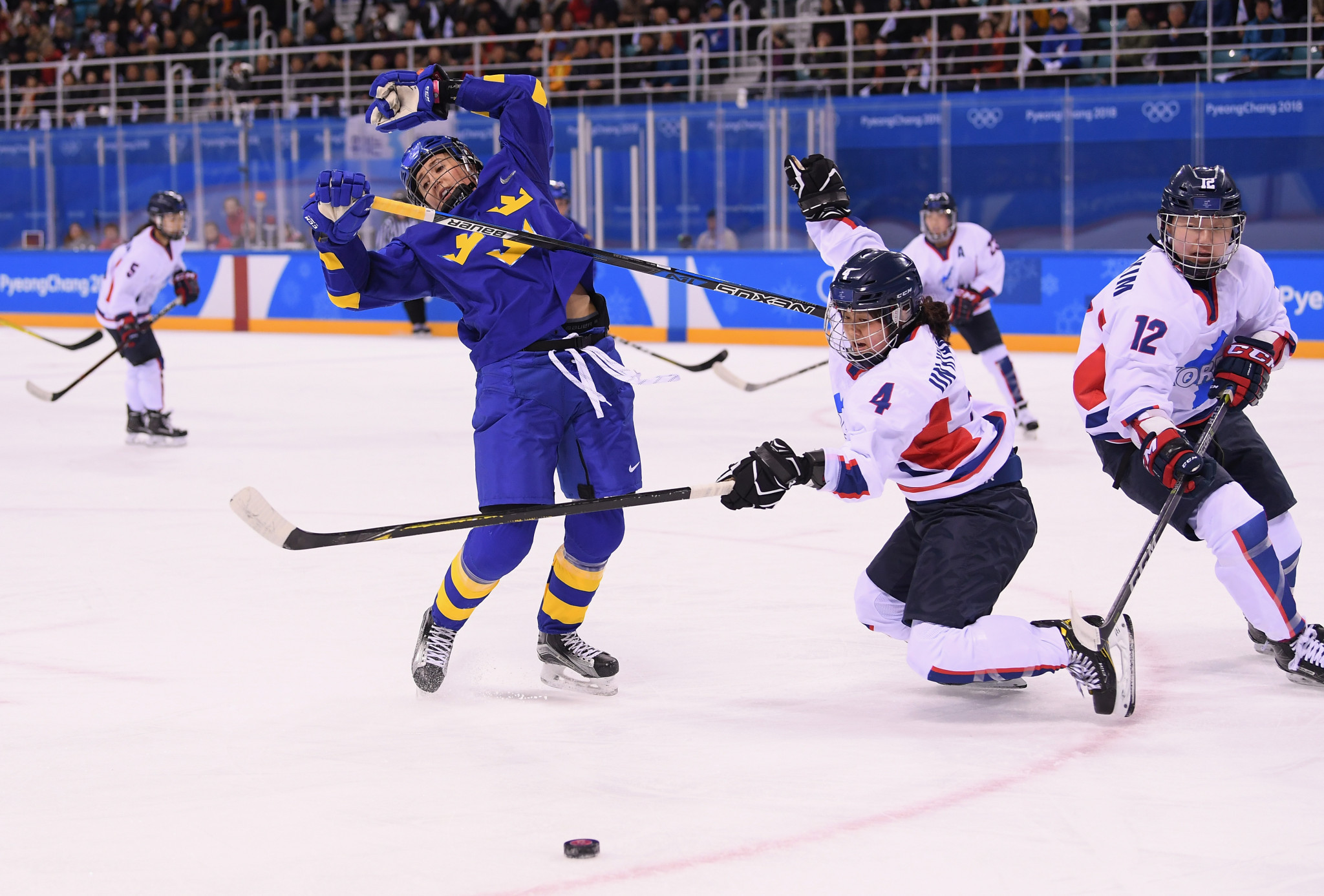 North Korean ice hockey player Un Hyang Kim failed a drug test at Pyeongchang 2018 but was allowed to continue playing ©Getty Images