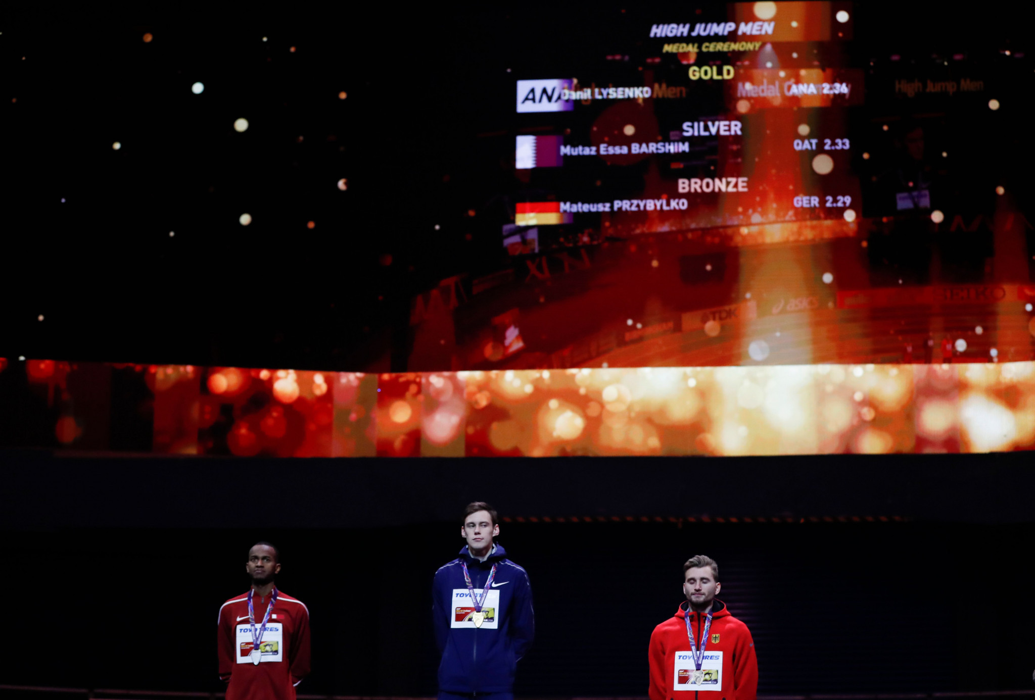 Danil Lysenko was among Russians to win gold under the Authorised Neutral Athlete banner at the World Indoor Championships in Birmingham last week ©Getty Images