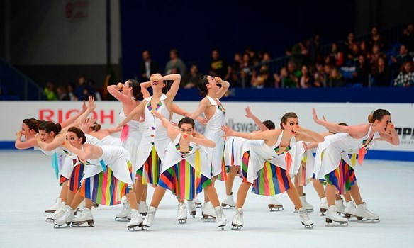 Synchronised skating is among new sports proposed for Winter Olympic inclusion ©ISU