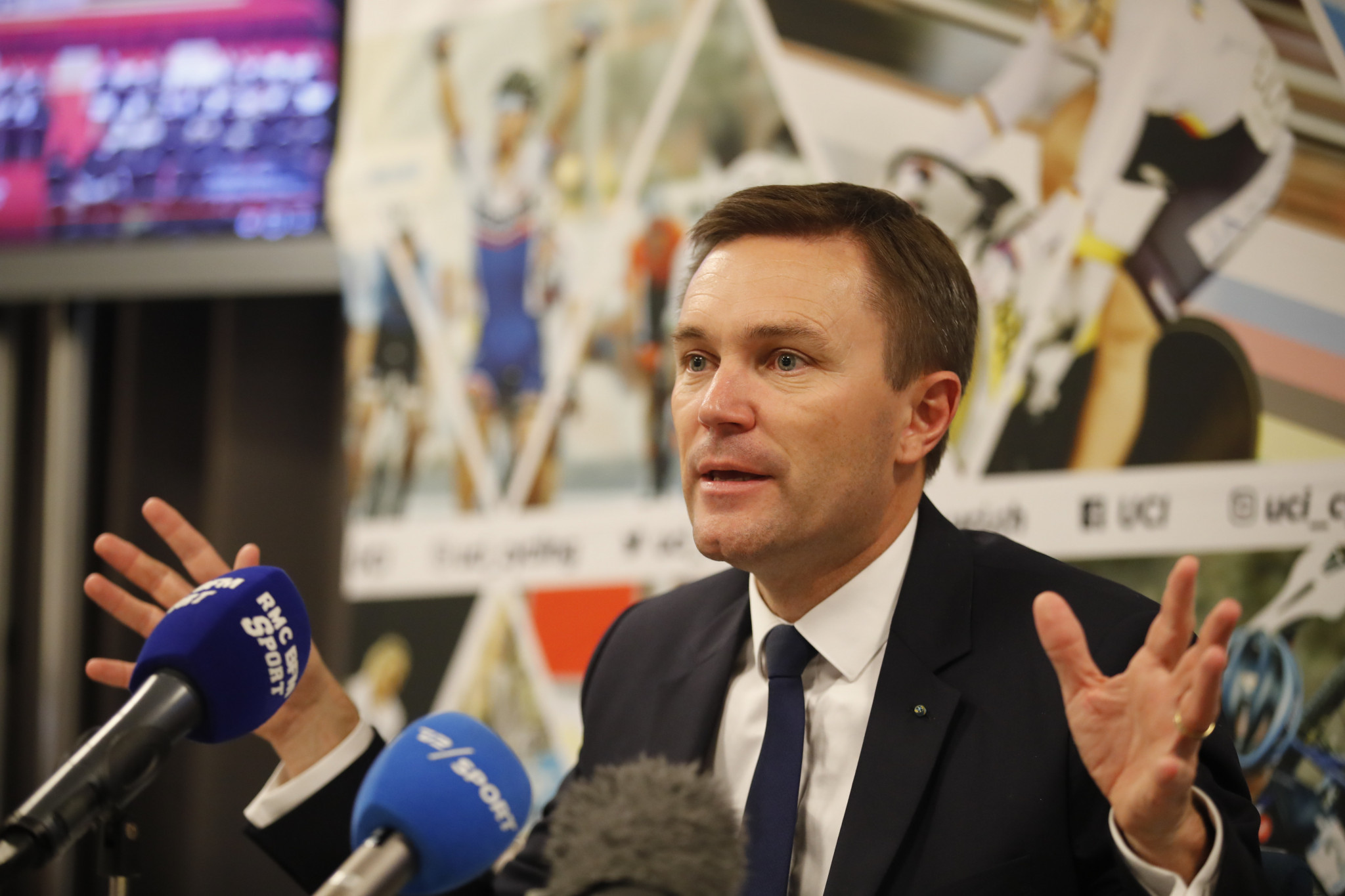 David Lappartient called for corticosteroids and tramadol to be banned during his election campaign for the UCI Presidency ©Getty Images