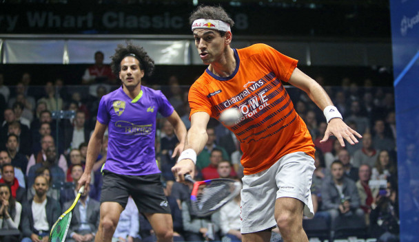 Elshorbagy brothers earn opening round wins at PSA Canary Wharf Classic