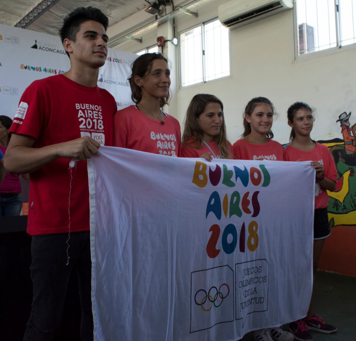 Olympic athletes were part of the expedition ©Buenos Aires 2018