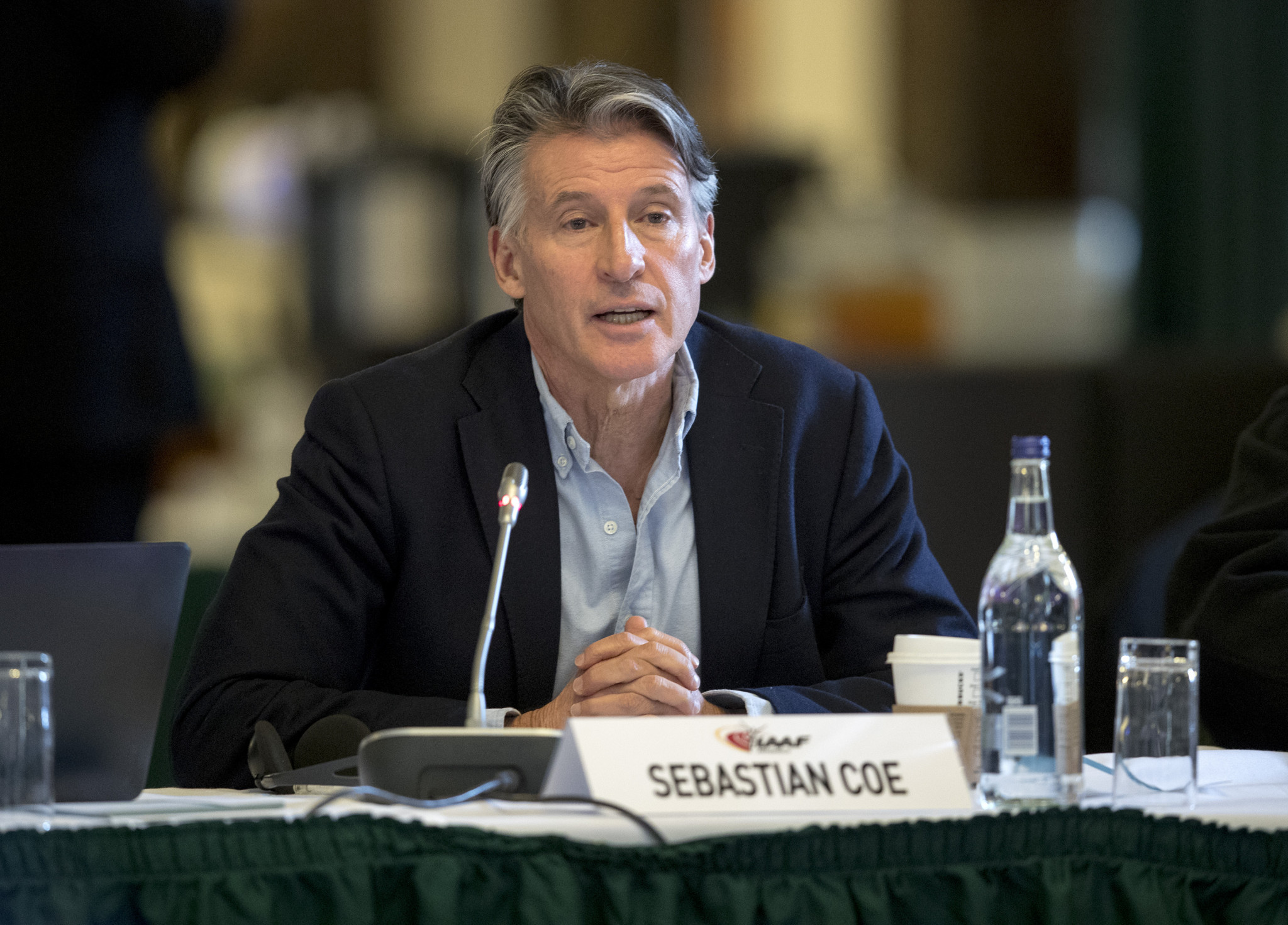 IAAF President Sebastian Coe stated the governing body needed to ensure a level playing field for athletes ©Getty Images