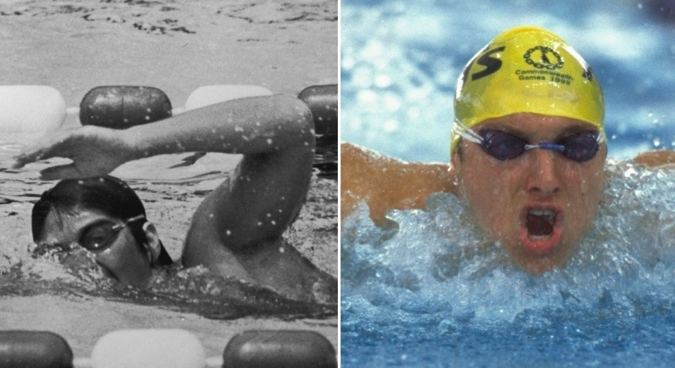 Dawn Fraser, left, and Ian Thorpe, right, won four Commonwealth Games gold medals at Perth 1962 and Kuala Lumpur 1998 respectively ©Getty Images