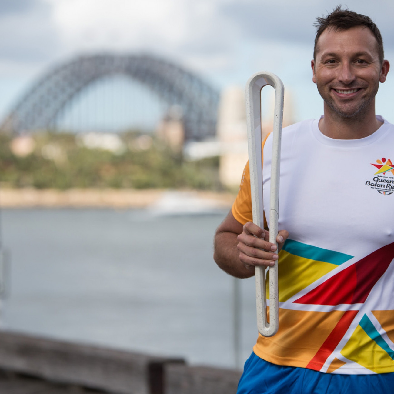 Ian Thorpe took part in the Queen's Baton Relay for Gold Coast 2018 when it visited Sydney ©Gold Coast 2018