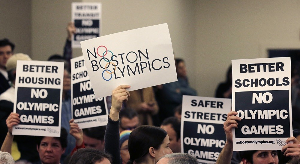 The No Boston Olympics campaign led to the collapse of the city's 2024 Summer Olympic bid ©Getty Images