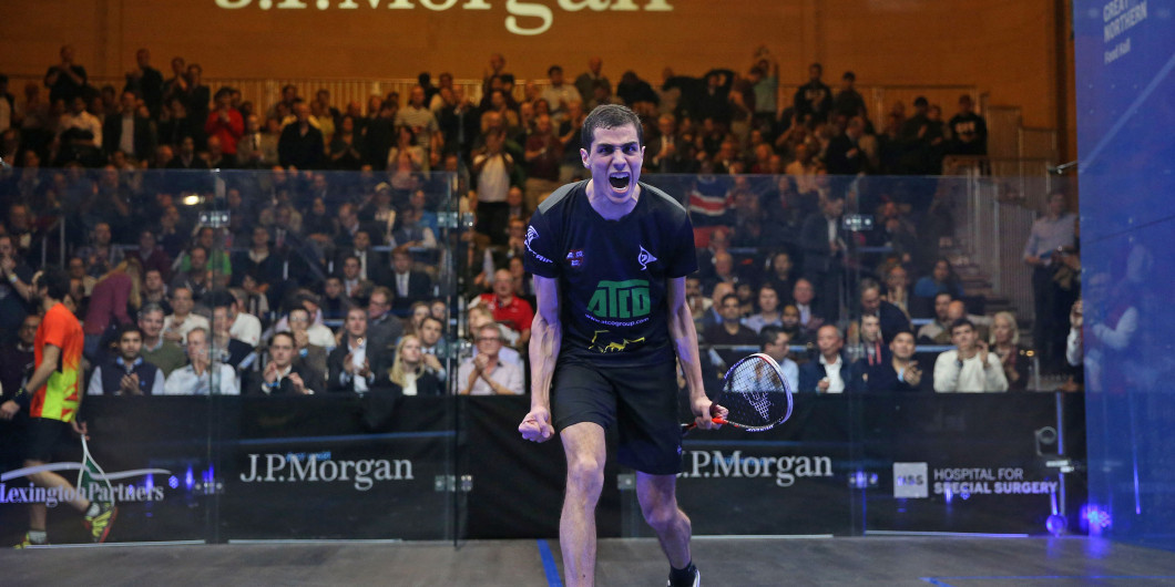 Farag earns first round win at PSA Canary Wharf Classic