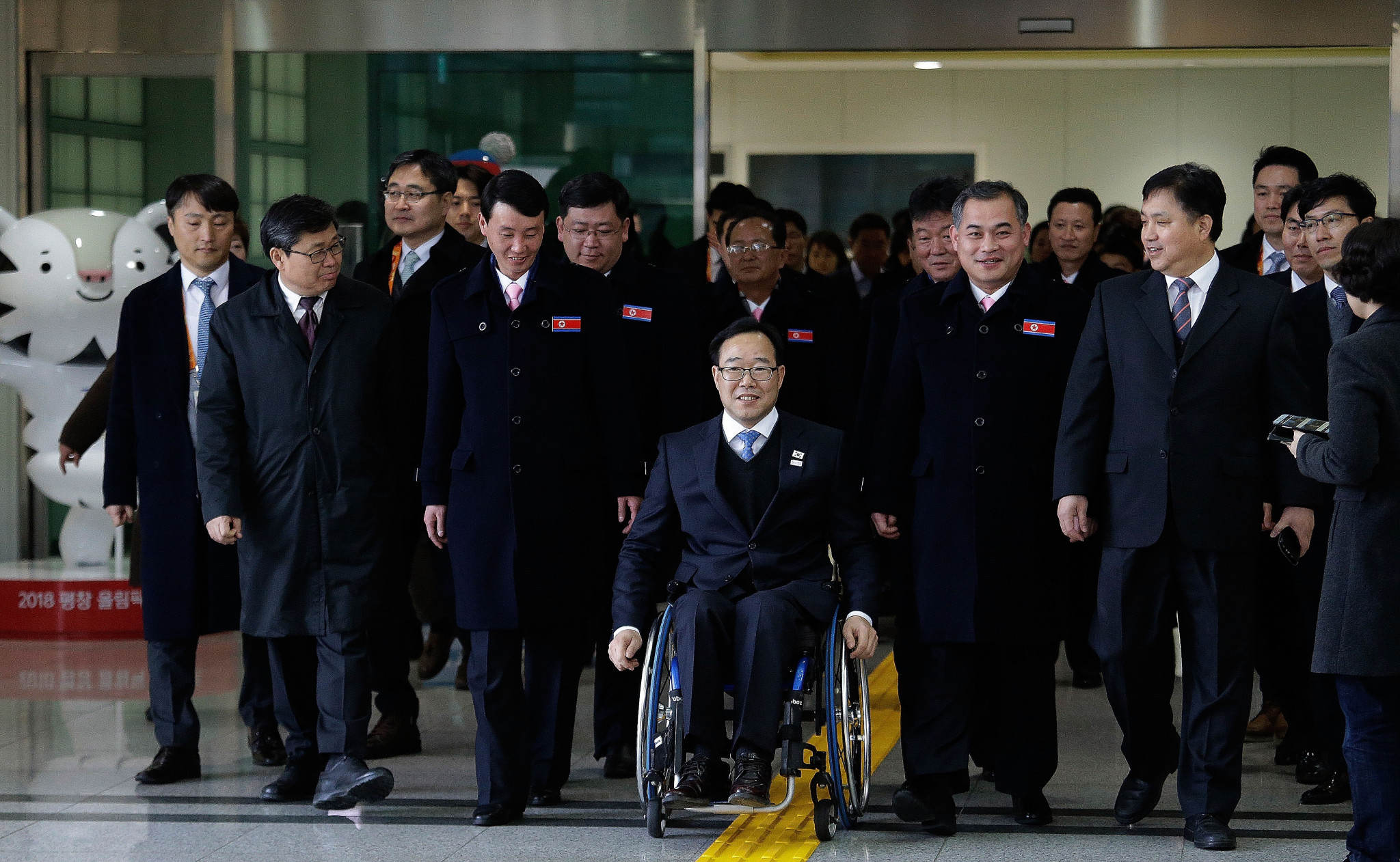 North Korean delegation arrives in South Korea for Pyeongchang 2018 Winter Paralympics