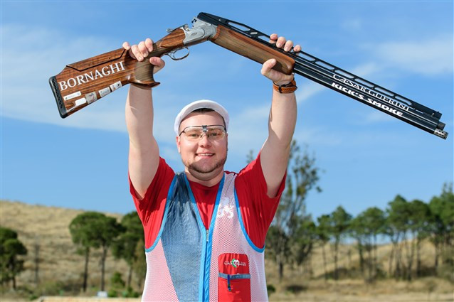 Lyndon Sosa claimed Luxembourg's first World Cup gold ©ISSF
