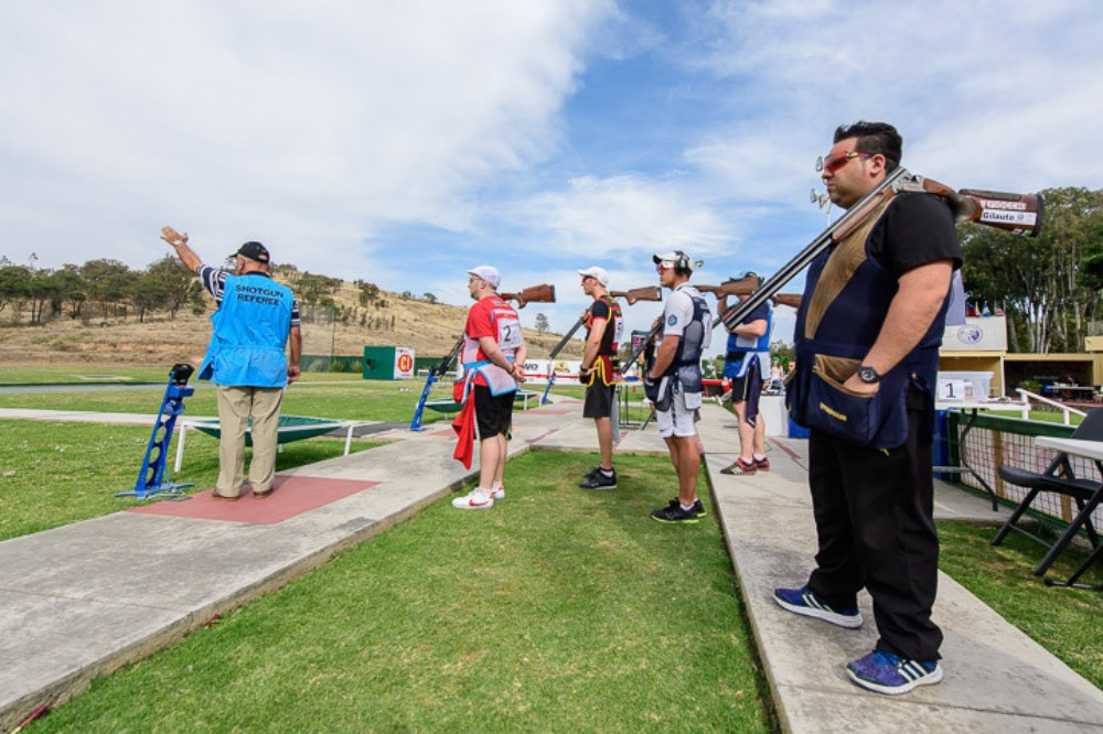 The men's trap final was the only competition of the day in Mexico ©ISSF