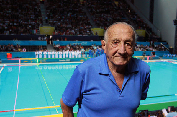 The late Sandor Tarics, who died aged 102 in 2016, predecessor to Sir Durward Knowles as the oldest surviving Olympic champion ©FISU