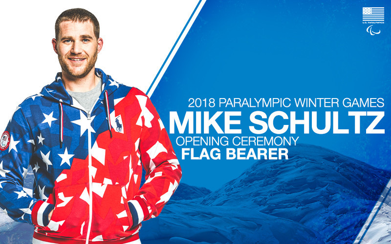 Snowboarder Schultz selected as United States' flagbearer for Opening Ceremony of Pyeongchang 2018 Paralympics