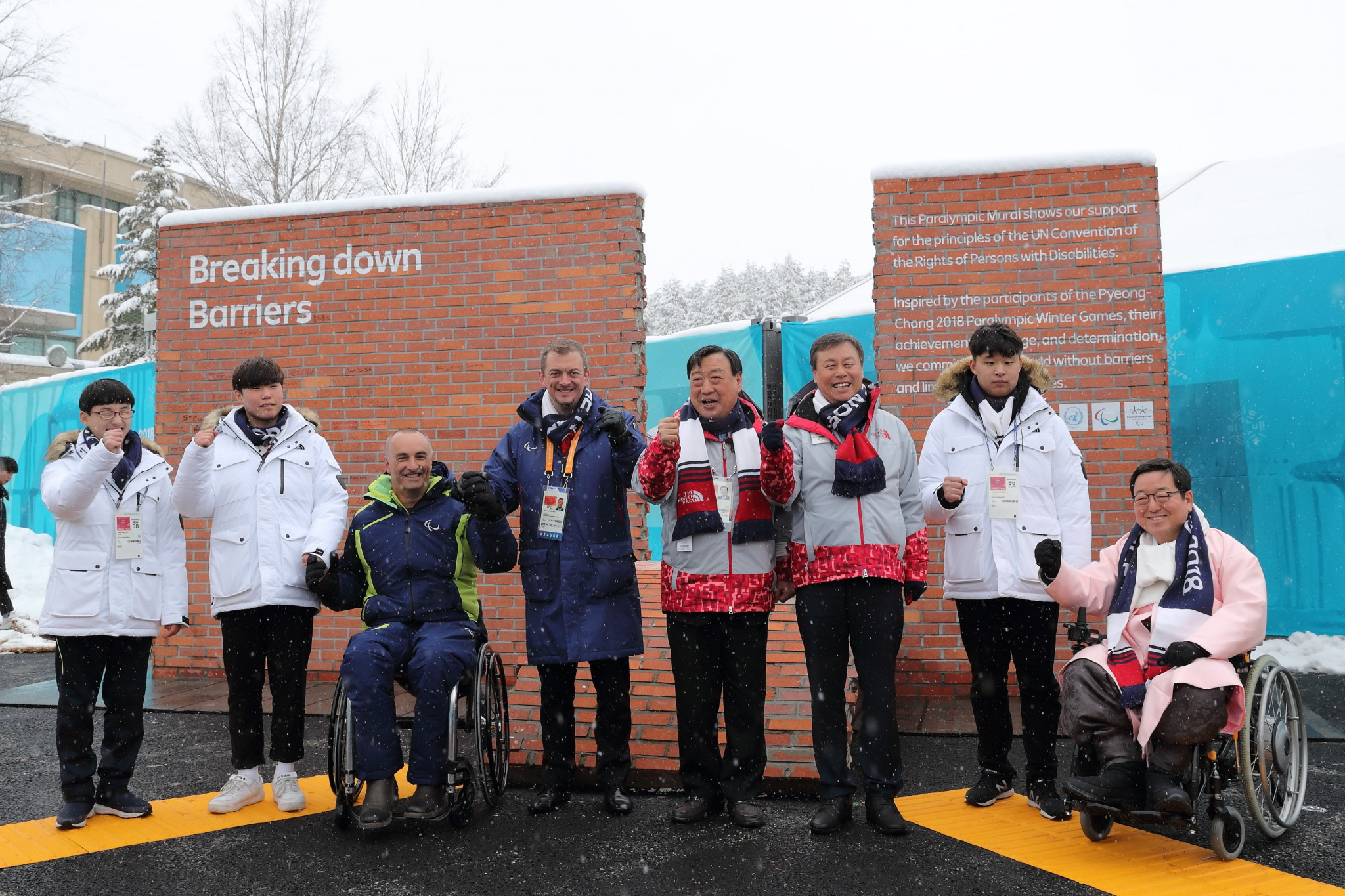 Pyeongchang 2018 Paralympic Mural unveiled at Athletes' Village