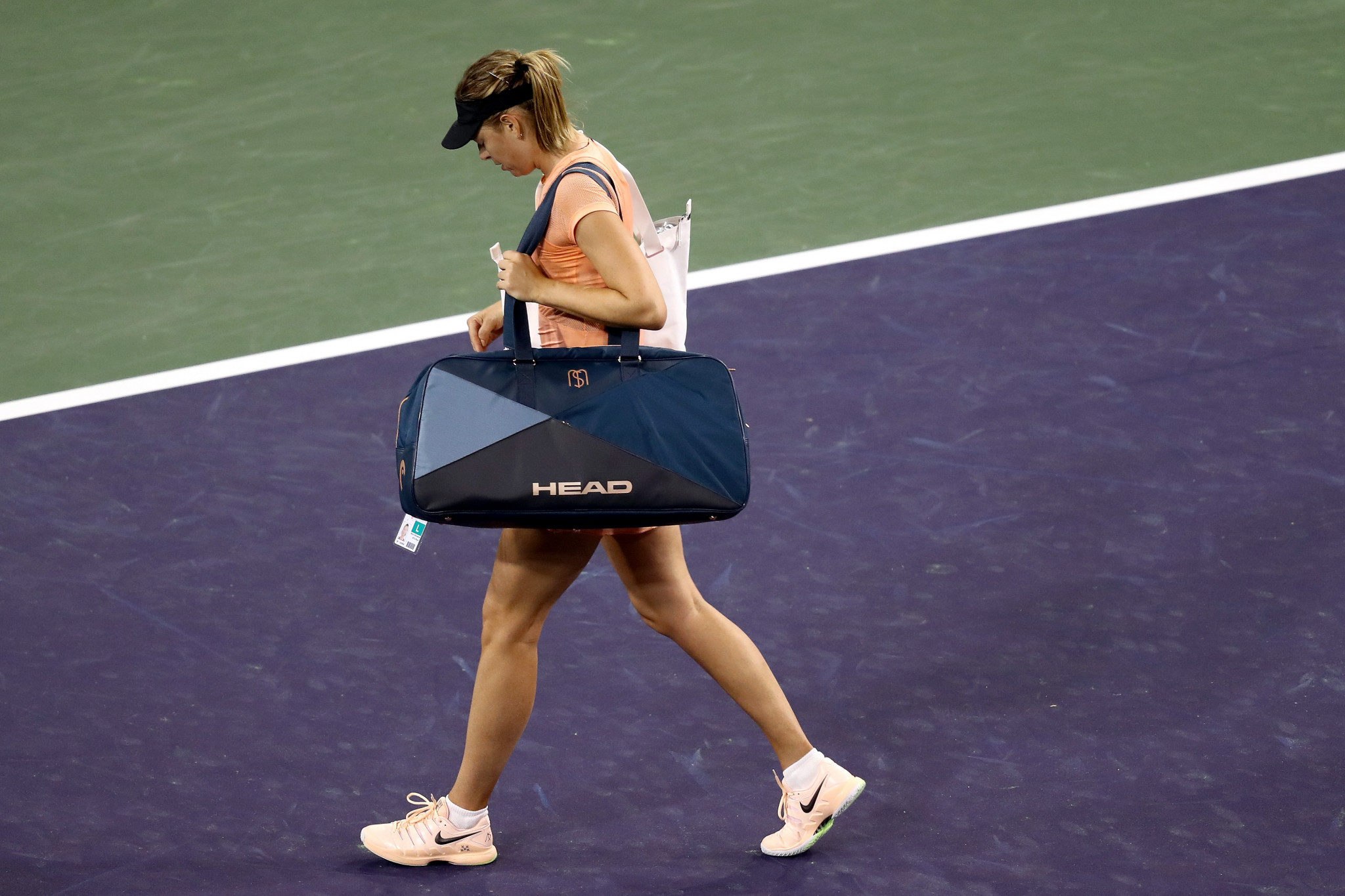 Sharapova suffers second straight opening round loss at Indian Wells Masters