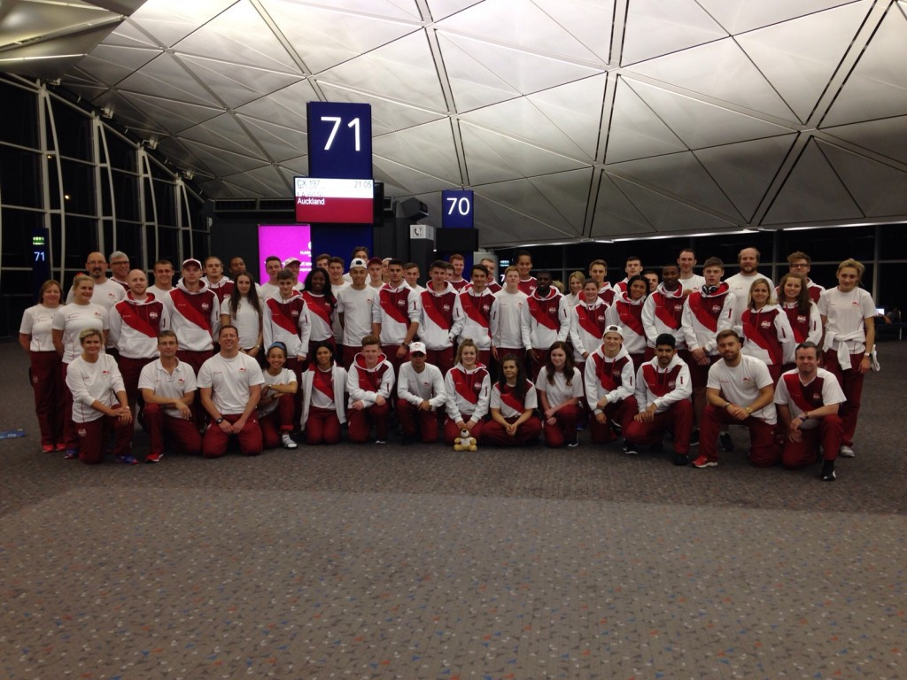 England's delegation of 60 were among the latest to arrive in Apia today